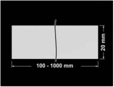 PLOMBA SREBRNA PÓŁPOŁYSK VOID T-34102 banderola 100x20mm