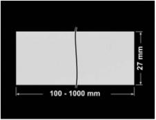 PLOMBA SREBRNA PÓŁPOŁYSK VOID T-34102 banderola 100x27mm