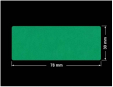 PLOMBA ZIELONE MATOWA VOIDOPEN B-34HV3 prostokąt 78x30mm