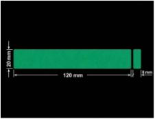 PLOMBA ZIELONE MATOWA VOIDOPEN B-34HV3 prostokąt x2 120x20mm-20x8
